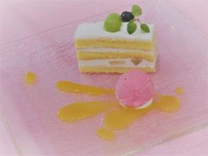 夏のフルーツショートケーキ(7/29体験入学)