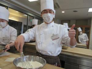 1Aクラス☆初めてのパン実習☆食パン手仕込み